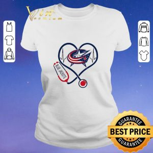 Hot Blue Jackets heart Nurse stethoscope shirt sweater
