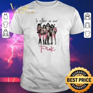 Hot Pink Breast cancer awareness Kiss In october we wear shirt