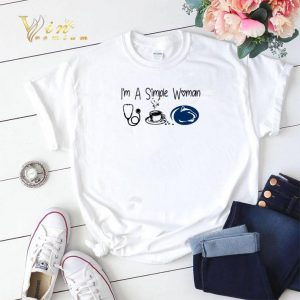 I'm a simple woman I like Nurse Coffee and Penn State shirt sweater