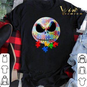 Jack Skellington face puzzle Autism shirt sweater
