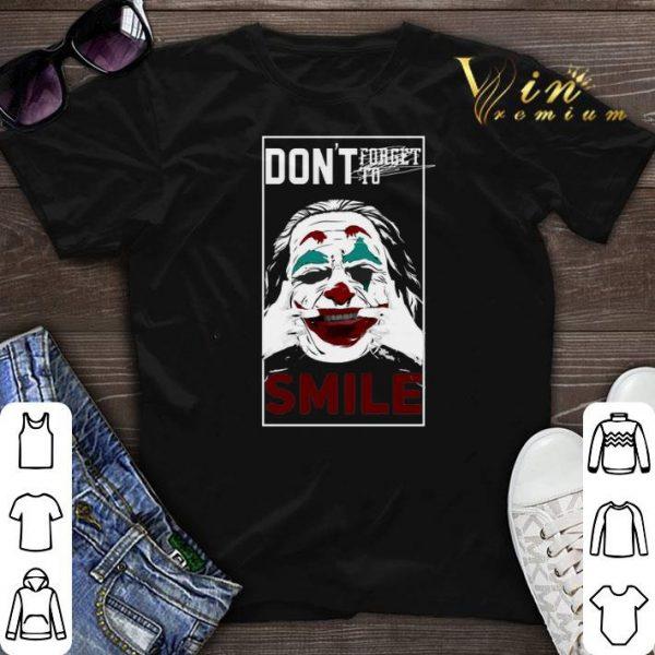 Joaquin Phoenix Joker don't forget to smile shirt sweater