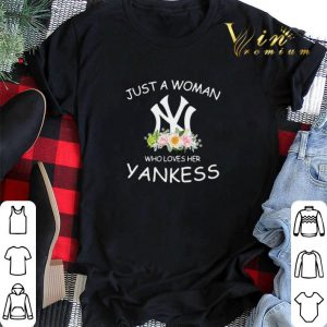 Just a woman who loves her Yankees flowers shirt sweater