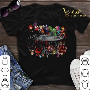 Marvel Avengers Endgame Avengers chibi water mirror reflection shirt