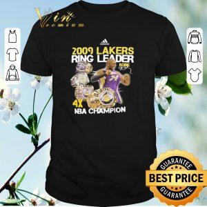 Nice NBA Champion Adidas 2009 Lakers Ring Leader Kobe Bryant shirt