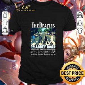 Nice The Beatles 50 years Abbey Road 1969-2019 Signatures shirt