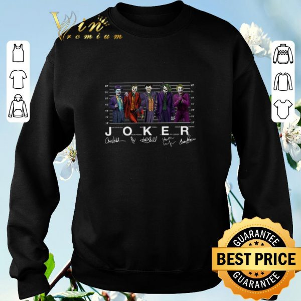 Official Signatures Joaquin Phoenix Joker Jack Nicholson Mark Hamill Heath Ledger Cesar Romero shirt