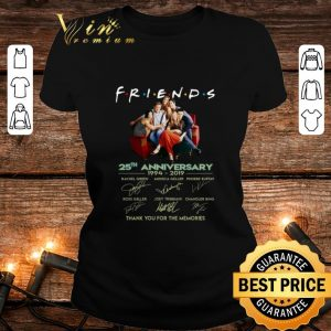 Premium Friends 25th anniversary 1994-2019 thank you for the memories shirt