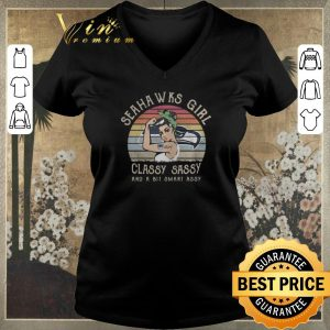 Premium Vintage Seahawks girl classy sassy and a bit smart assy shirt