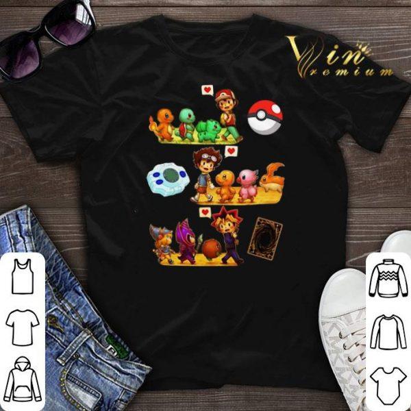 Satoshi Pokemon Digimon Yugioh Childhood shirt sweater