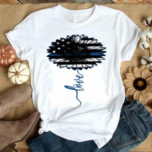 Sunflower Love Thin Blue Line American Police shirt
