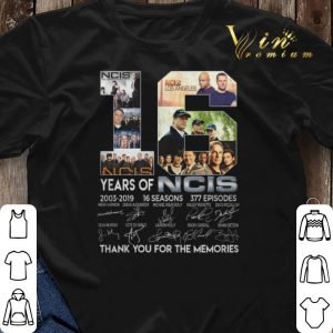 Thank you for the memories 16 years of NCIS 2003-2019 16 seasons shirt 2