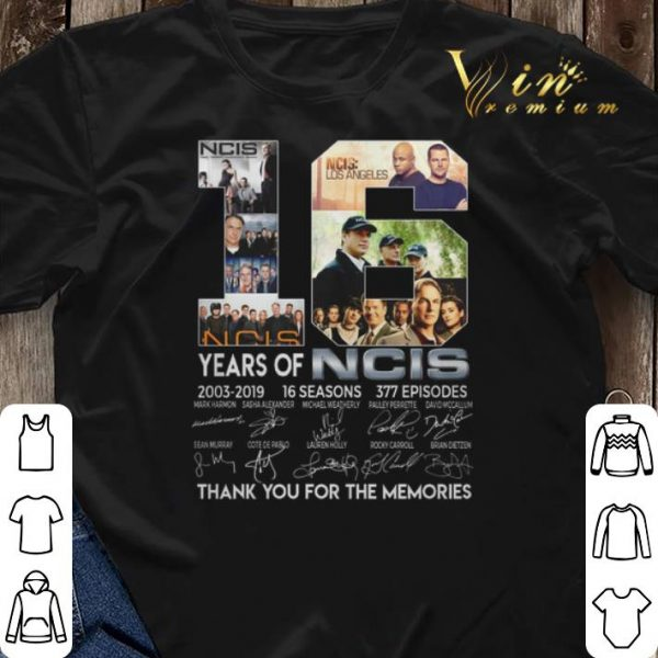 Thank you for the memories 16 years of NCIS 2003-2019 16 seasons shirt