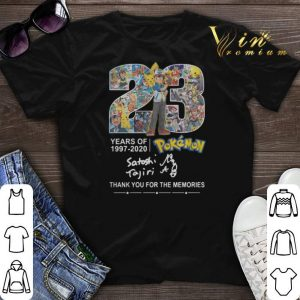 Thank you for the memories 23 years of Pokemon 1997-2020 shirt