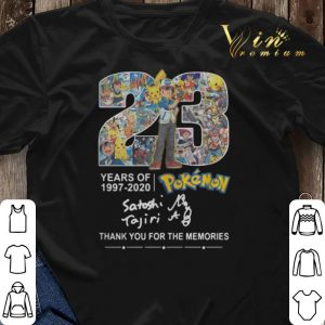 Thank you for the memories 23 years of Pokemon 1997-2020 shirt 2