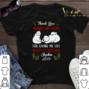 Thank you mommy and daddy for giving me life Merry 1st Christmas shirt sweater