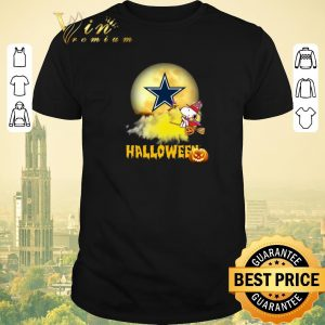 Top Halloween Snoopy flying on the broom Dallas Cowboys shirt