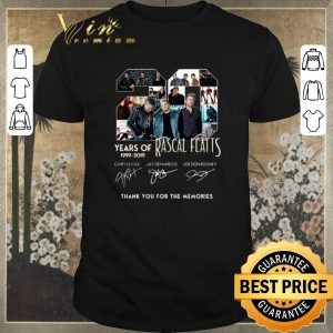 Top Thank you for the memories 20 Years of Rascal Flatts 1999-2019 shirt