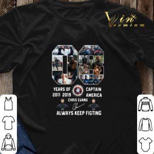 08 years of Captain America 2011 2019 Chris Evans shirt sweater 2