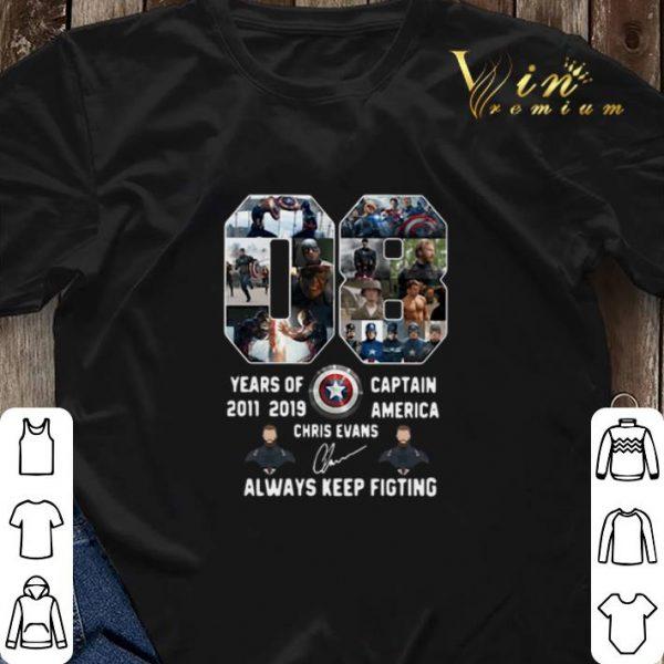 08 years of Captain America 2011 2019 Chris Evans shirt sweater