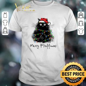 Awesome Black Cat Merry Fluffmas shirt sweater