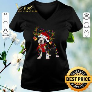 Awesome Boston Terrier gorgeous reindeer Christmas shirt