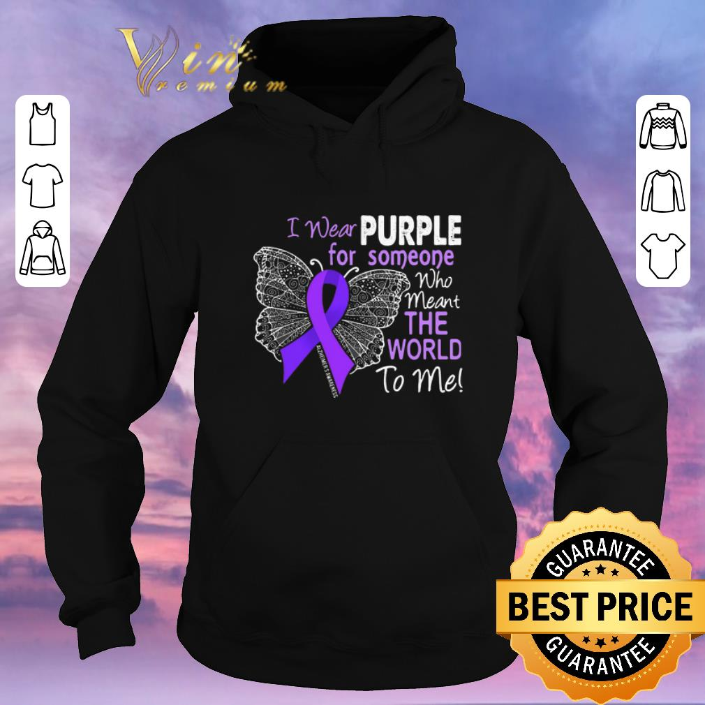 Awesome Butterfly i wear purple for someone world Alzheimer s Awareness shirt sweater 4 - Awesome Butterfly i wear purple for someone world Alzheimer's Awareness shirt sweater