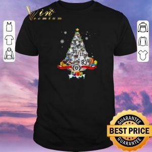 Awesome Christmas tree Oakland Raiders players signatures shirt