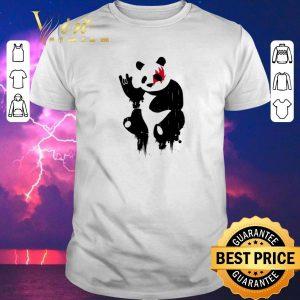 Awesome Kiss Panda Rock shirt sweater