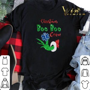 Christmas Boo Boo Crew EMS Star of Life Grinch shirt