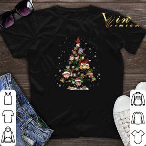 Christmas tree Harry Potter characters shirt