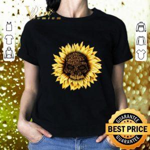 Cool Skull Sunflower Leopard shirt