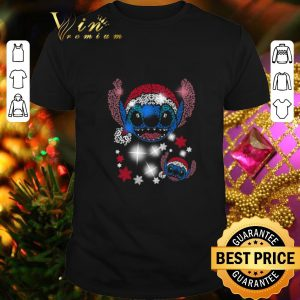 Cool Stitch head Santa hat Christmas shirt