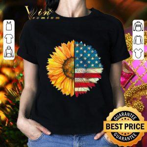 Cool Sunflower American flag shirt