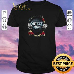 Funny American flag Philadelphia Eagles Superman shirt