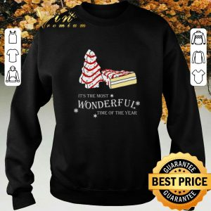 Funny Christmas cake It's the most wonderful time of the year shirt sweater 2