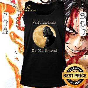 Funny Darth Vader moon Hello darkness my old friend shirt sweater