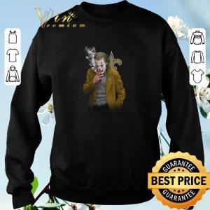 Funny Joker 2019 New Orleans Saints Logo shirt sweater 2