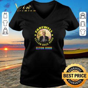 Funny LGBT Elton John Farewell Yellow Brick Road signature shirt sweater 2019