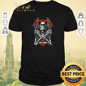Funny Skeleton Metallica Harley Davidson Logo shirt sweater