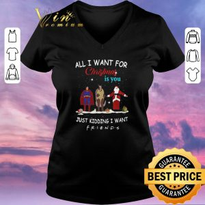 Funny The One with the Halloween Party All i want for Christmas is you just kidding i want Friends shirt sweater 1