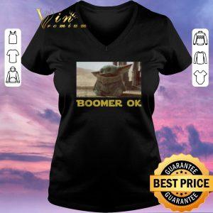 Hot Baby Yoda Boomer Ok Star Wars shirt sweater