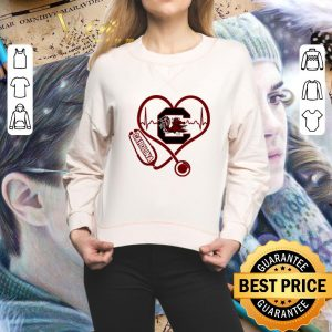 Hot Heartbeat love Carolina Gamecocks nurse shirt