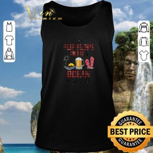 Hot I'm a flip flops beer & ocean kinda girl shirt 2020