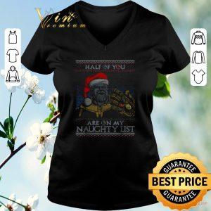 Hot Thanos Santa half of you are on my naughty list Christmas shirt