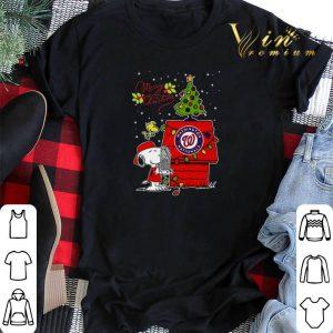 Merry Christmas Washington Nationals Snoopy Woodstock shirt