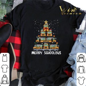 Merry Schoolbus Christmas tree school bus driver shirt sweater