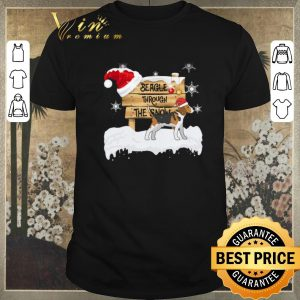 Nice Christmas Beagle Through The Snow shirt