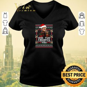 Nice Christmas Freddy Krueger One Two Freddys Coming For You shirt