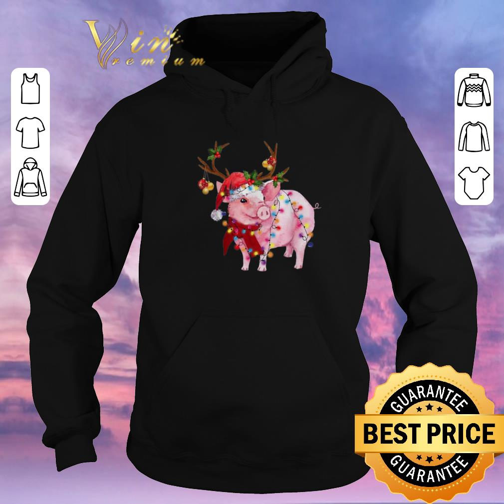 Nice Christmas Lights Pig Santa reindeer shirt 4 - Nice Christmas Lights Pig Santa reindeer shirt