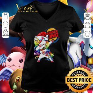 Nice Dabbing Santa Unicorn Burger King shirt